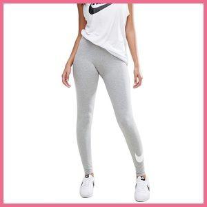 Nike grey  logo leggings, sz M